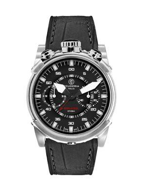 Ct Scuderia Coda Corta Stainless Steel Watch In Silver Black