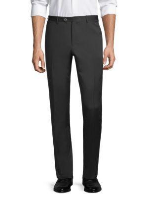 Corneliani Basic Solid Regular Fit Dress Pants In Black