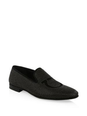 Salvatore Ferragamo Gancini Leather Loafers In Nero