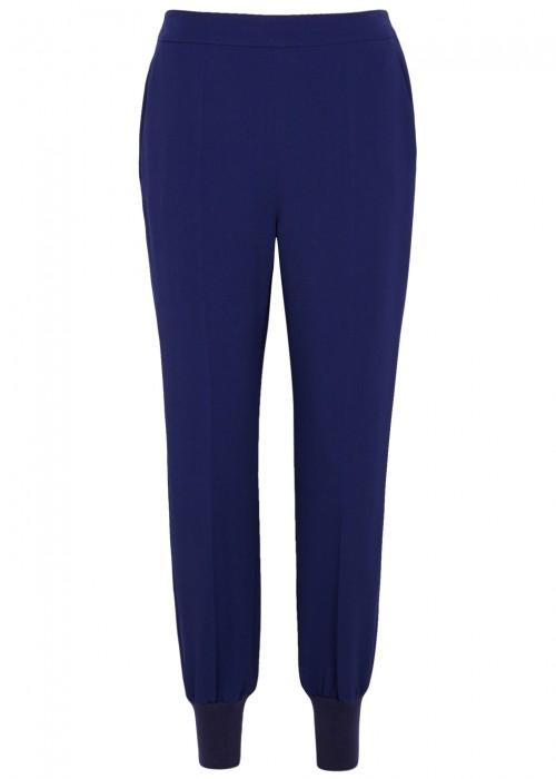 Stella Mccartney Julia Blue Crepe Jogging Trousers