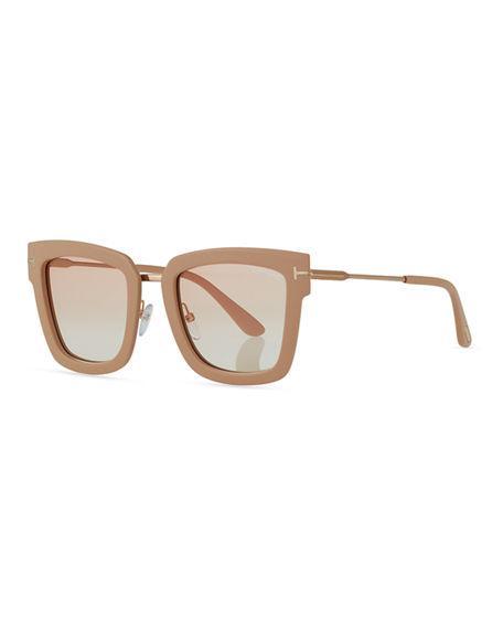 7ddcefc00b Tom Ford Lara Acetate   Metal Square Sunglasses In Neutral Pattern ...