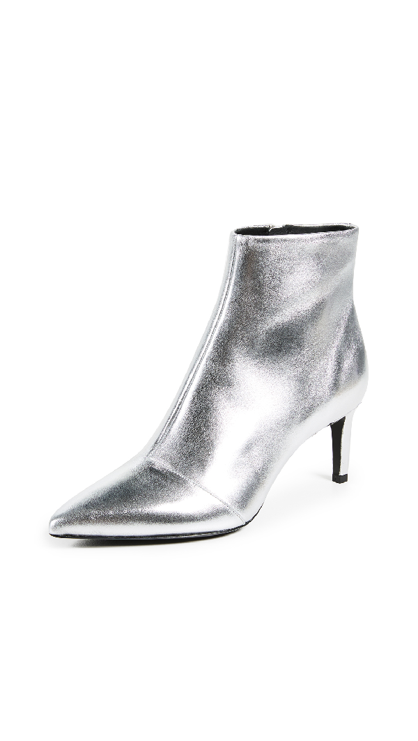 adad038f56 Rag & Bone Beha Metallic Leather Ankle Boots - Silver | ModeSens