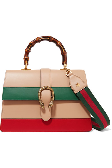 14f1b50e975d Gucci Dionysus Bamboo Medium Leather Shoulder Bag In Orange, Green, Red