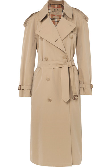 160ce833595c Burberry The Westminster Long Cotton-Gabardine Trench Coat In Beige ...