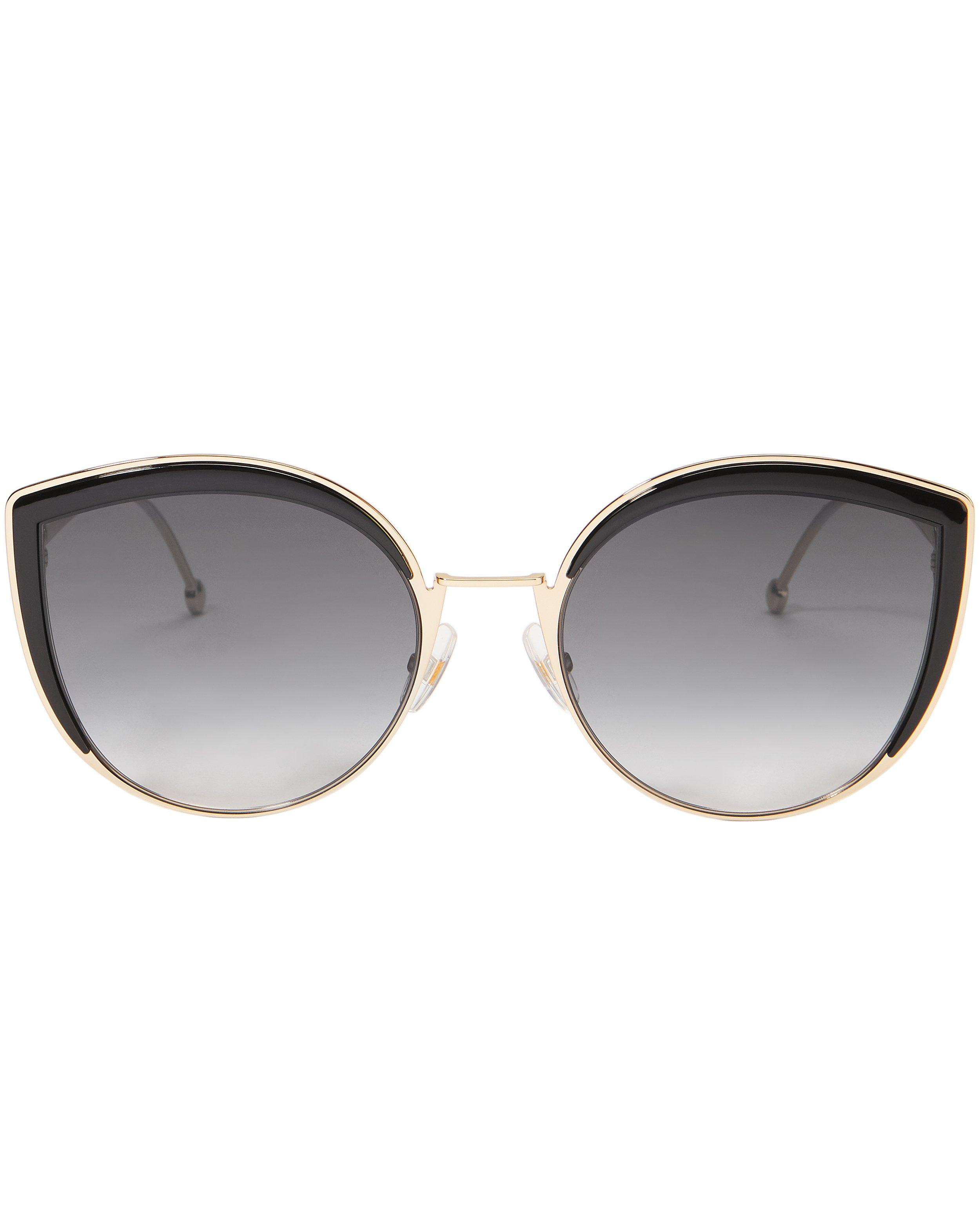 Fendi Grey Gradient Cat Eye Sunglasses