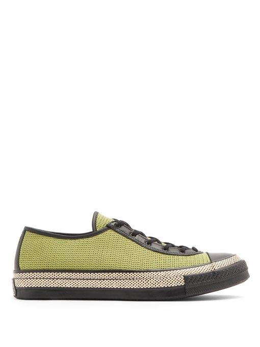 Converse X Jw Anderson Canvas Low-top Trainers In Black Green