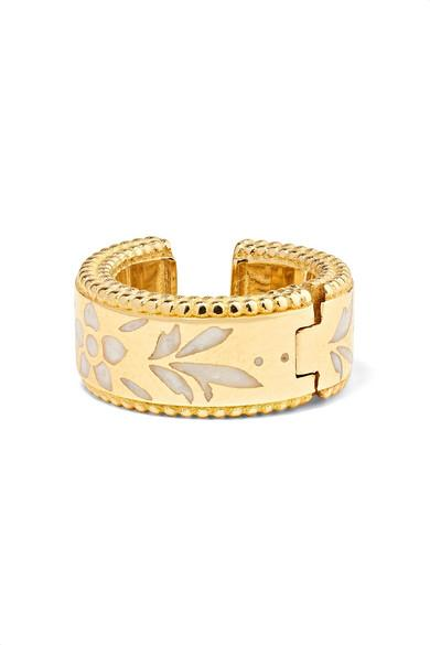 3407e49a3 Gucci Icon 18-Karat Gold And Enamel Ear Cuff | ModeSens
