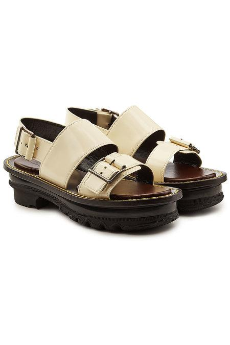 Marni Leather Sandals In White