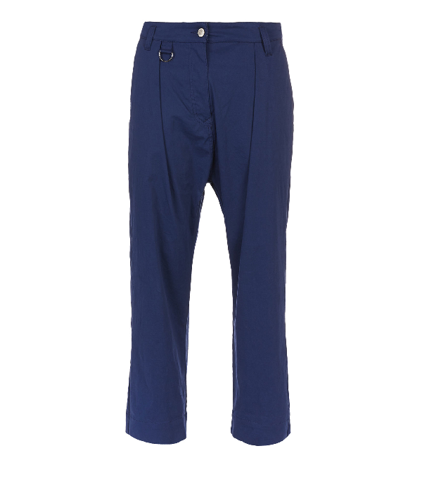 Vivienne Westwood Cropped Dietrich Trousers Blue