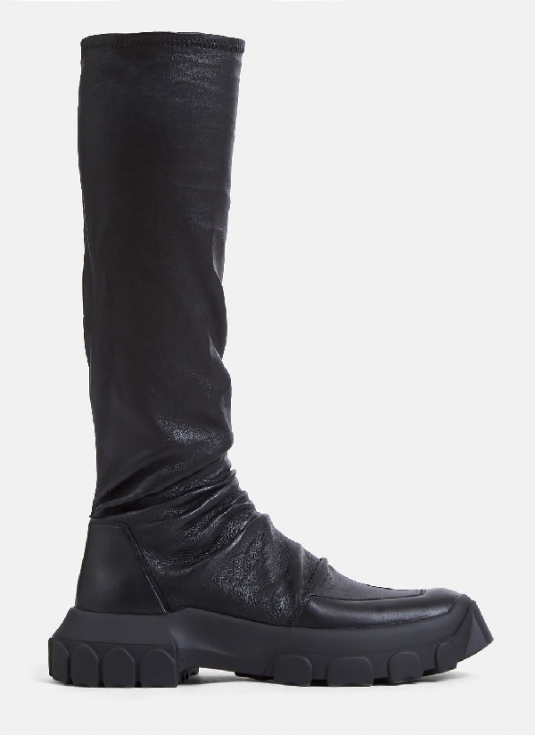 Rick Owens Hiking Sock Boots In Black