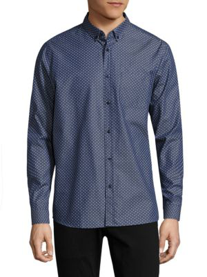 Hugo Emingway Slim-fit Shirt In Navy