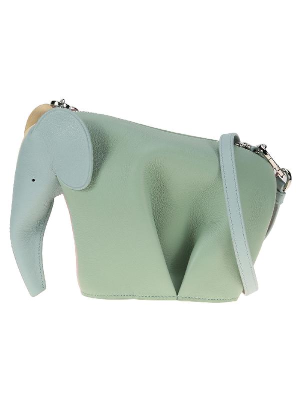 Loewe Elephant Shoulder Bag In Multicolor