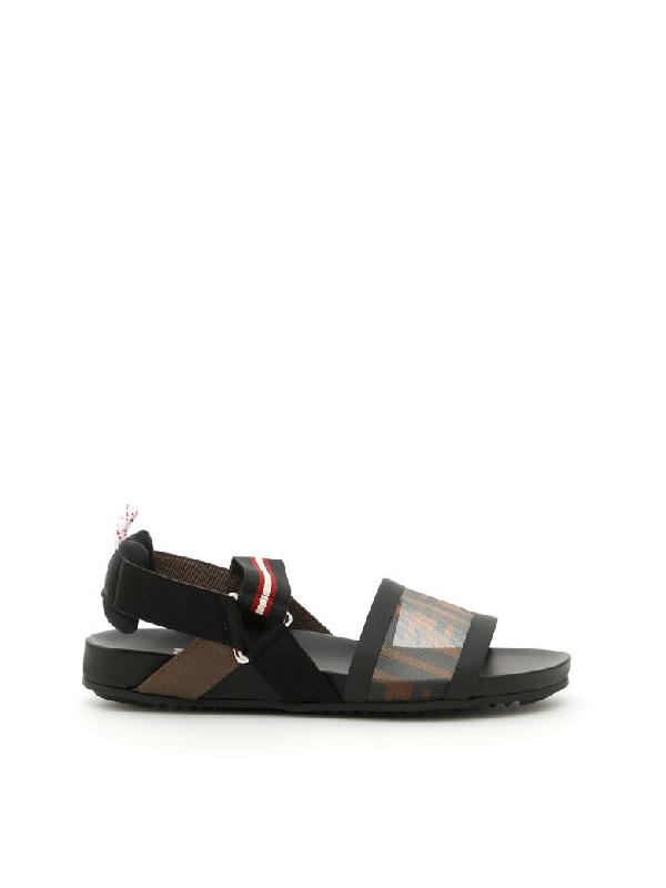 Fendi ColibrÌ Sandals In Tab Moro Neronero