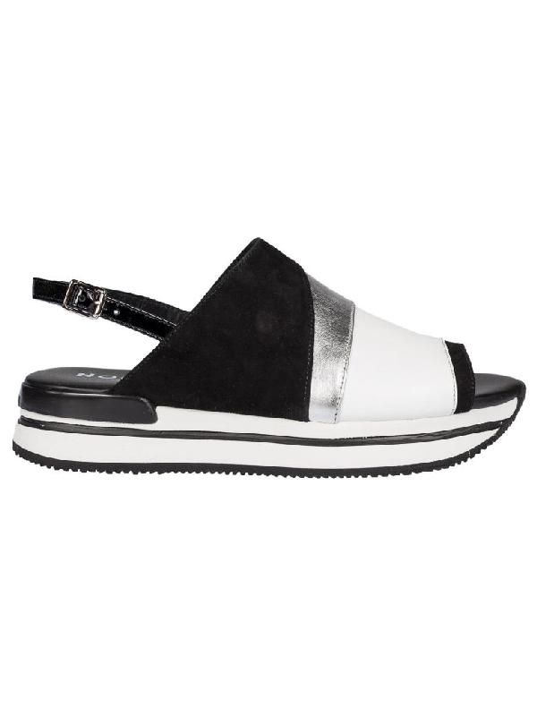 Hogan Color Block Platform Sandals