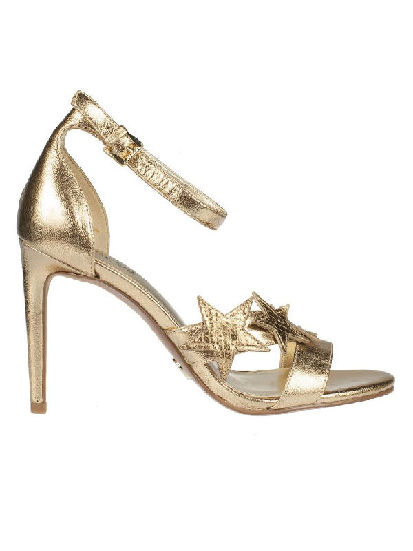Michael Kors Starry Night Sandals In Pale Gold