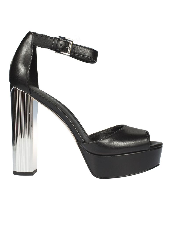 Michael Kors Paloma Platform Sandals In Black