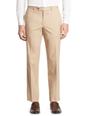 Saks Fifth Avenue Collection Cotton Chino Pants In Taupe