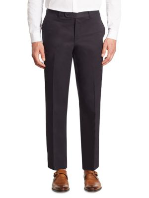 Saks Fifth Avenue Collection Cotton Chino Pants In Navy