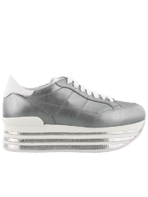 Hogan Maxi H349 Sneaker In White-grey