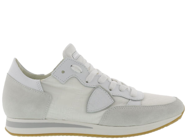 Philippe Model Tropez Colours Sneaker In Blanc-blanc