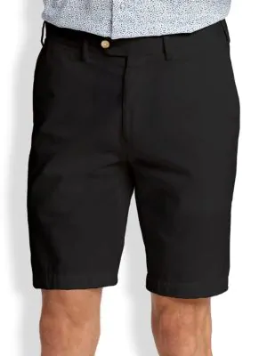 Saks Fifth Avenue Collection Cotton Oxford Shorts In Black