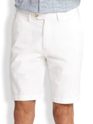 Saks Fifth Avenue Collection Cotton Oxford Shorts In White
