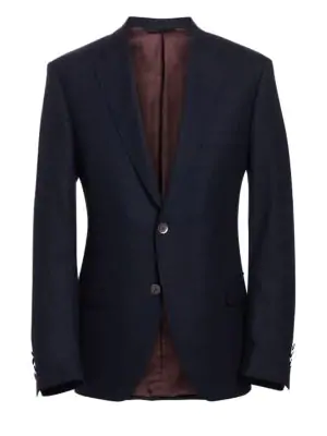 Saks Fifth Avenue Collection By Samuelsohn Classic-fit  Wool Travel Blazer In Blue