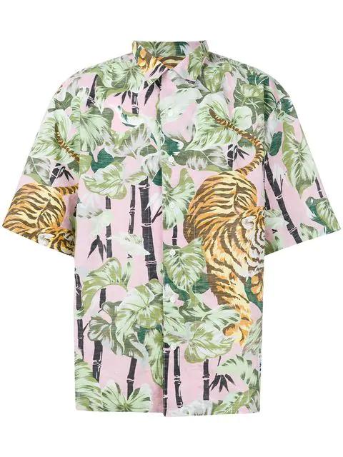 686ff413 Kenzo Hawaiian Print Shirt In Multicolour   ModeSens