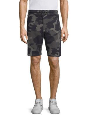Wesc Marty Camouflage Fleece Drawstring Shorts In Grey