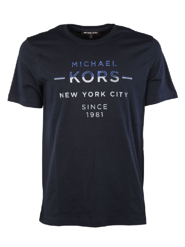 Michael Kors Double Take T-shirt In Midnight