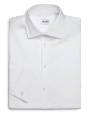 Armani Collezioni Modern-fit French Cuff Dress Shirt In White