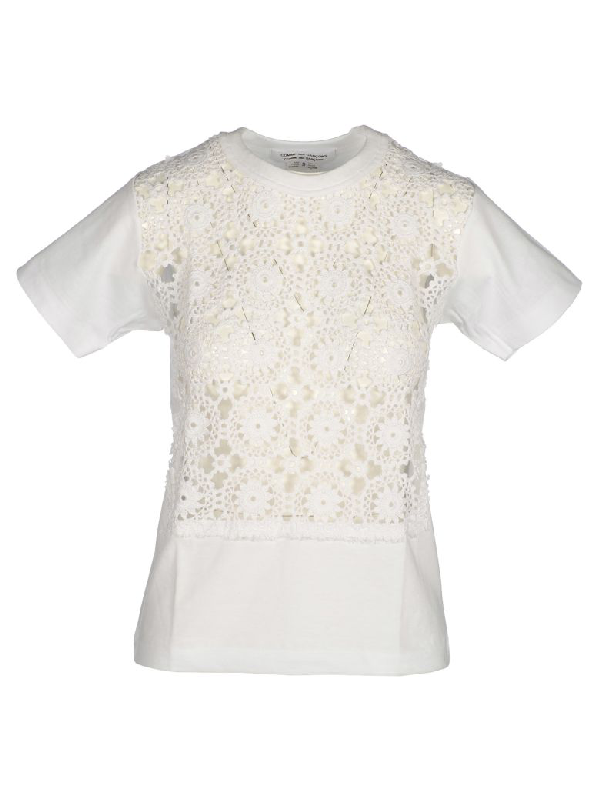 Comme Des GarÇons Comme Des GarÇons Tshirt Macrame In White