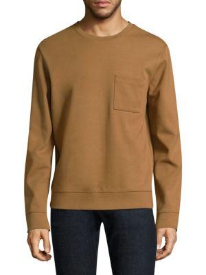A.p.c. Crewneck Cotton Sweatshirt In Caramel