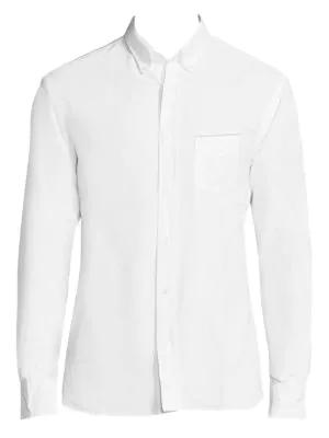 Officine Generale Regular-Fit Cotton Shirt In White