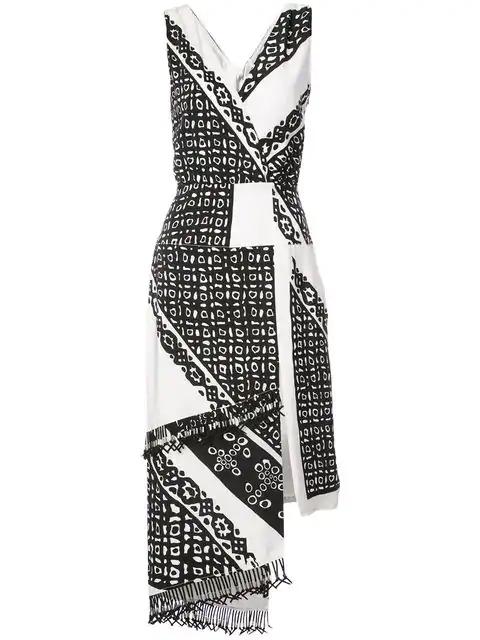 Altuzarra Quartier Bandana Print Dress In White