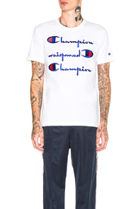 Champion Embroidered Logo T-shirt In White