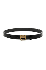 Givenchy 4g Engraved Belt In Black