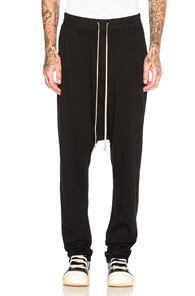 Rick Owens Drkshdw Drkshdw By Rick Owens Drawstring Long Pant In Black