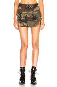 History Repeats Mini Skirt In Abstract,green