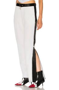 Marques' Almeida Marques ' Almeida Side Stripe Trouser Pant In White