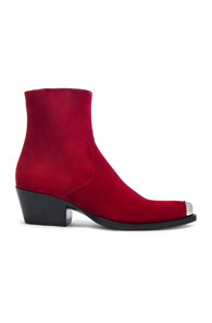 Calvin Klein 205w39nyc Suede Tex Chiara Ankle Boots In Red