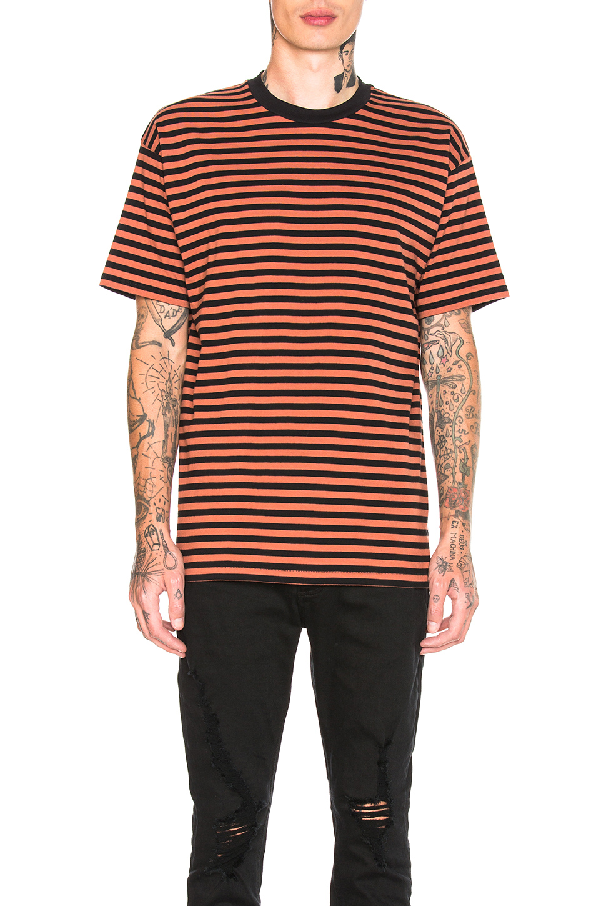 Zanerobe Stripe Box Tee In Rust