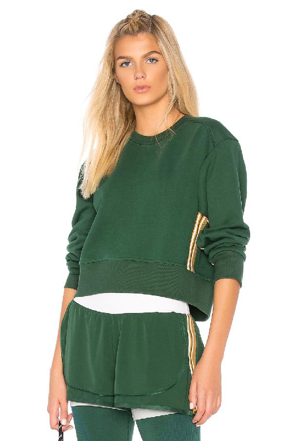 Adidas By Stella Mccartney Train Sweatshirt In Green
