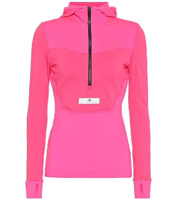 Adidas By Stella Mccartney Run Hooded Top In Pink