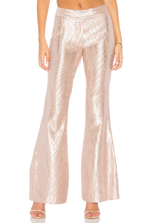 Rachel Zoe Lauren Sequin Pant In Metallic Neutral