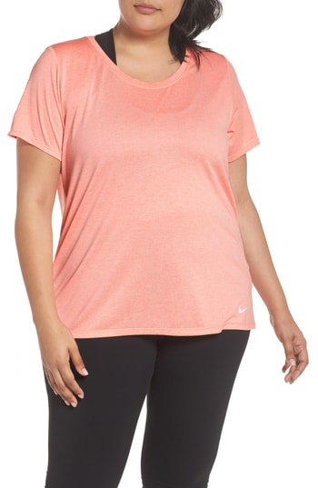 Nike Dry Legend Training Tee In Light Atomic Pink/ White