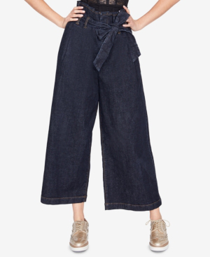 Rachel Rachel Roy Wide-leg Paperbag Jeans, Created For Macy's In Rinse Wash