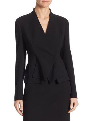 Akris Punto Layered V-neck Jacket In Black