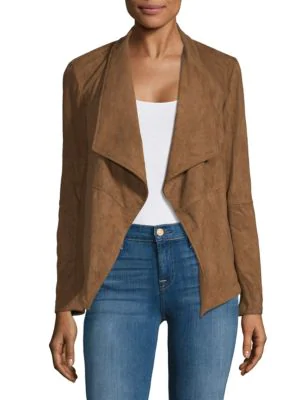 Saks Fifth Avenue Nicholson Open-front Blazer In Antelope