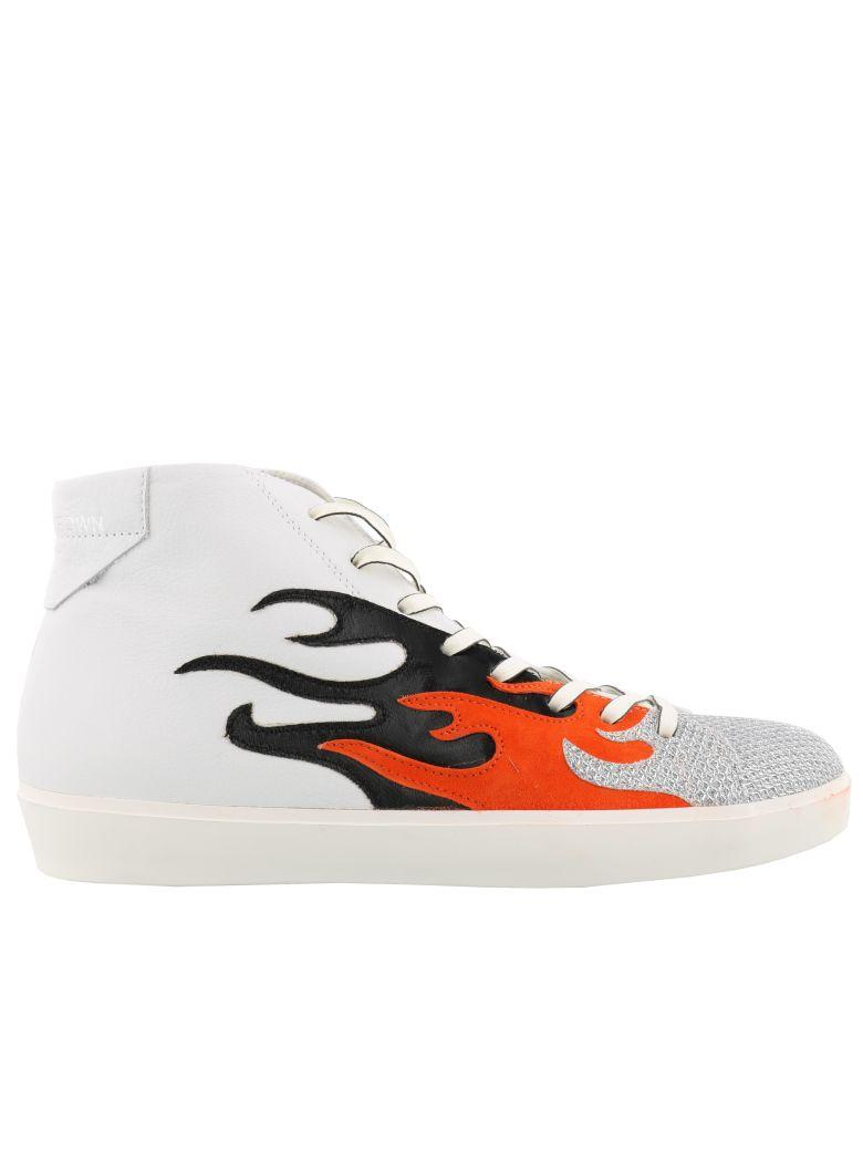 Leather Crown Sneaker In White Multicolor
